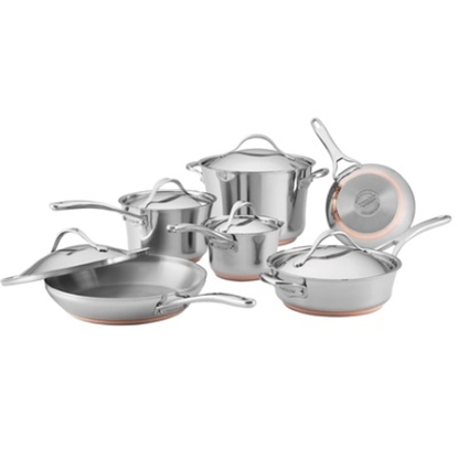 Picture of Anolon® Nouvelle Copper Stainless Steel 11PC Cookware Set