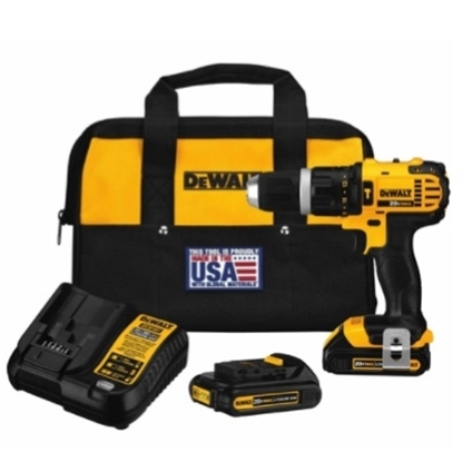 Picture of DeWalt® 20V MAX* Lithium Ion Compact Hammerdrill Kit