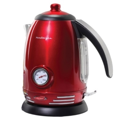 Picture of Nostalgia Electrics™ 50's Style Electric Kettle - Red