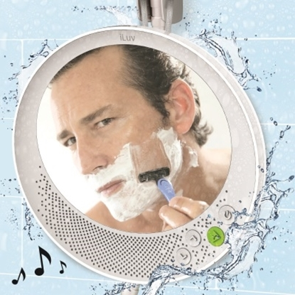 Picture of iLuv Water-Resistant Wireless Speaker with Shower Mirror