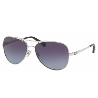 Picture of Coach Polarized Aviator Sunglasses - Silver/Purple Gradient