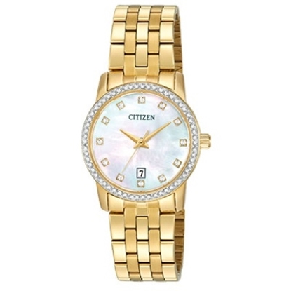 Picture of Citizen Ladies' Quartz Gold-Tone Watch w/ Mother-of-Pearl Dial