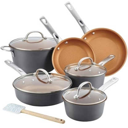 Picture of Ayesha Curry Hard Anodized 11-Piece Cookware Set - Copper