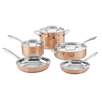 Picture of Cuisinart® Copper Collection 8-Piece Tri-Ply Cookware Set
