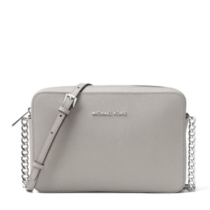 Picture of Michael Kors Jet Set Travel Large E/W Crossbody - Pearl Grey