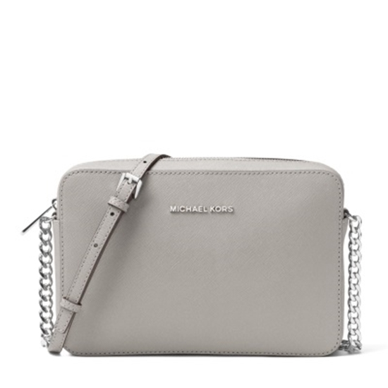 e8c31abf2880 Picture of Michael Kors Jet Set Travel Large E/W Crossbody - Pearl Grey