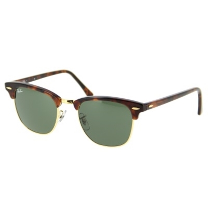 Picture of Ray-Ban Classic Clubmaster Sunglasses- Tortoise/G-15XLT Lenses