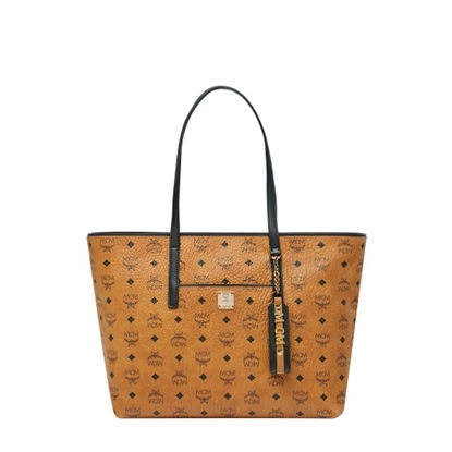 Picture of MCM Anya Medium Shopper - Cognac/Black