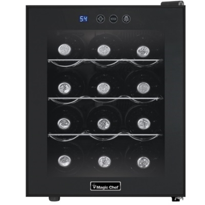 Picture of Magic Chef 12-Bottle Wine Cooler - Black