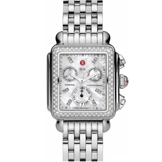 Picture of Michele® Ladies' Deco Day Watch with Diamond Dial