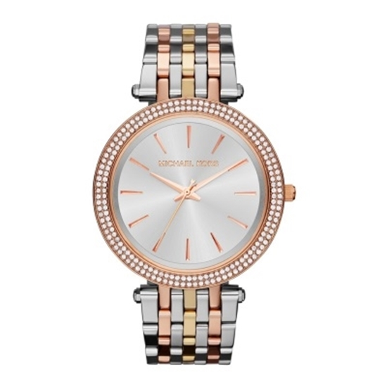 Picture of Michael Kors Ladies' Darci Tri-Tone Watch with Crystal Bezel