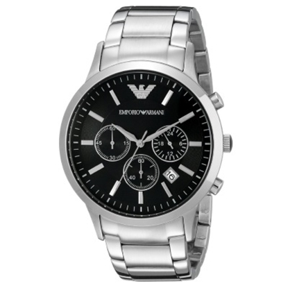 Picture of Armani Men's Stainless Steel Classic Round Black Chrono