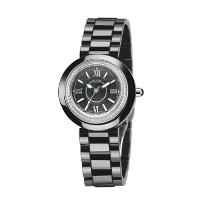 Picture of ALOR Watch w/ Ceramic/Stainless Steel Bezel & Ceramic Bracelet