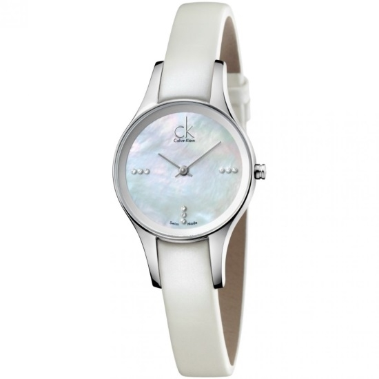 Picture of Calvin Klein Simplicity Watch with MOP Dial and Leather Strap