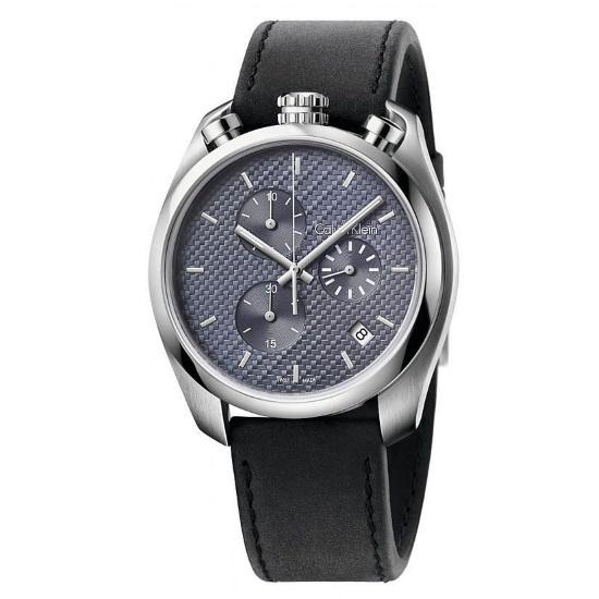 Picture of Calvin Klein Control Chrono w/ Dark Grey Dial & Leather Strap