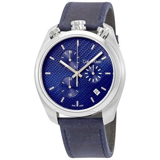 Picture of Calvin Klein Control Chrono w/ Blue Dial & Blue Leather Strap