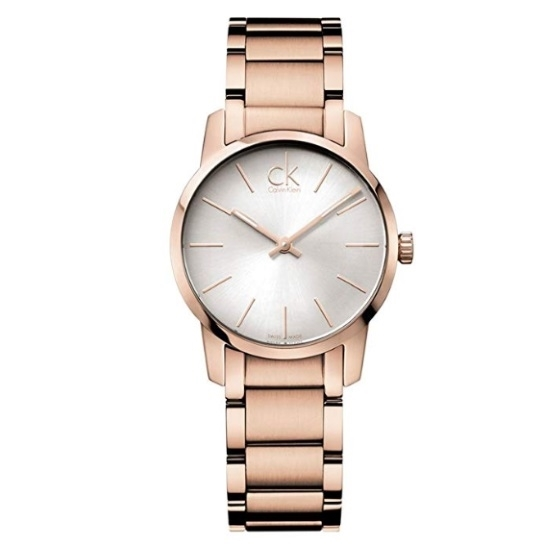Picture of Calvin Klein City Rose Gold-Tone Ladies' Watch w/ Silver Dial