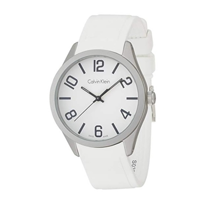 Picture of Calvin Klein Color Alumimum Men's Watch with White Dial