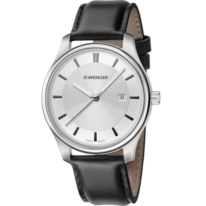 Picture of Wenger City Classic Small Watch - Metallic Dial/Black Leather