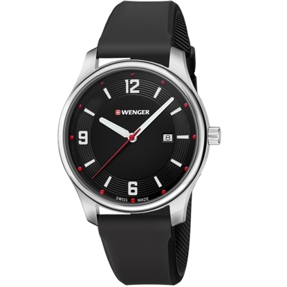 Picture of Wenger City Active Small Watch w/ Black Dial & Silicone Strap