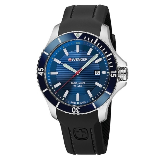 Picture of Wenger Seaforce Large Watch with Blue Dial and Black Strap