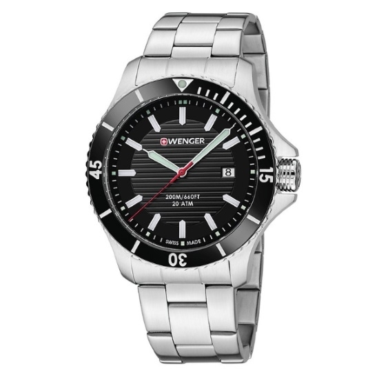 Picture of Wenger Seaforce Large Stainless Steel Watch with Black Dial