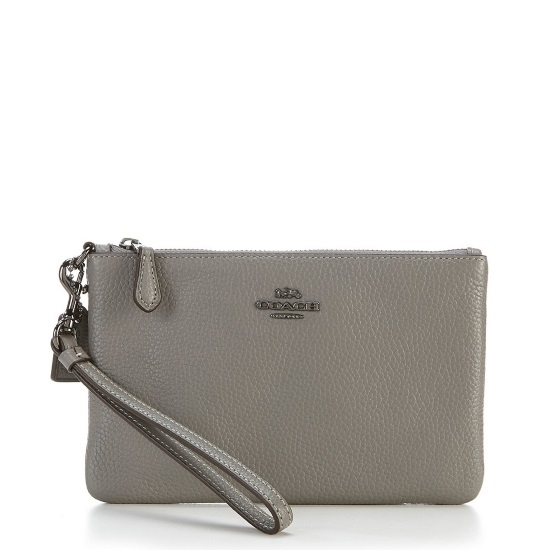 Picture of Coach Small Wristlet - Heather Grey