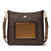 Picture of Michael Kors Gloria Signature Pocket Swing Pack - Brown/Bronze