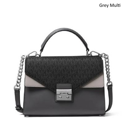 Picture of Michael Kors Sloan Medium Double Flap Satchel - Grey Multi