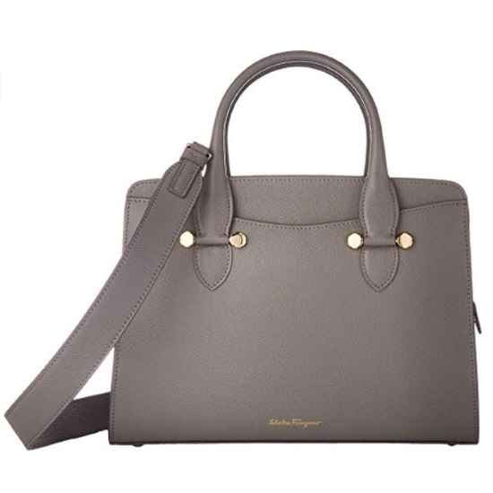 Picture of Salvatore Ferragamo Small Today Satchel - Fossil Grey