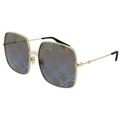 bfe8260e5d6 Gucci Rectangular Metal Sunglasses - Gold Rainbow