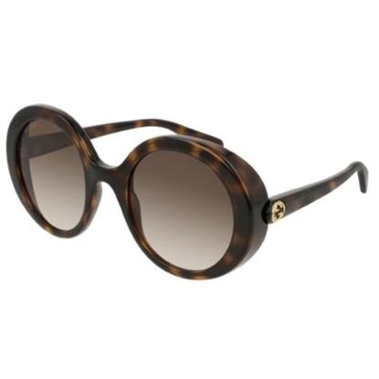 Picture of Gucci Ladies' Round Sunglasses - Havana/Brown
