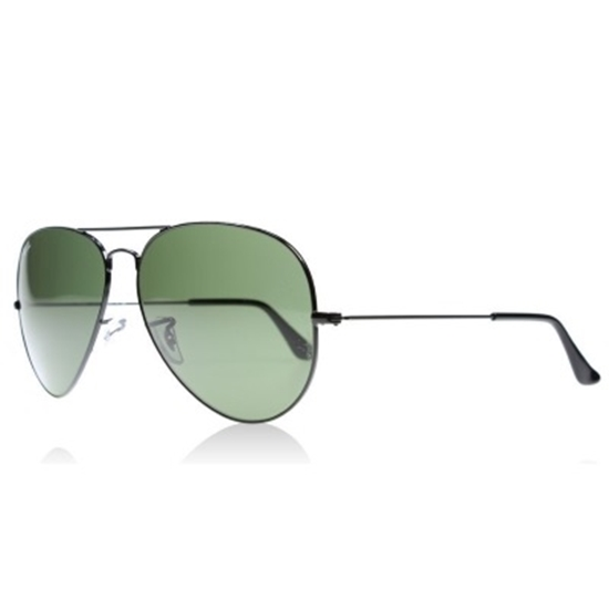 Picture of Ray-Ban® Aviator Sunglasses with Green Classic G-15 Lens