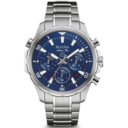Picture of Bulova Men's Marine Star Chronograph Watch with Blue Dial