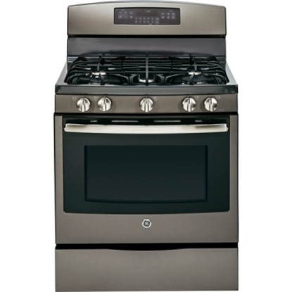 "Picture of GE® 30"" Free-Standing Gas Convection Range - Slate"
