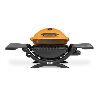 Picture of Weber Q® 1200™ LP Gas Grill w/ Portable Cart- Orange