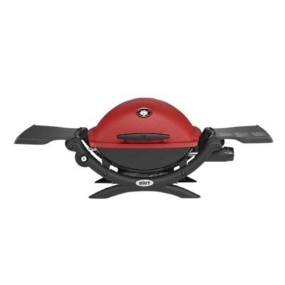 Picture of Weber Q® 1200™ LP Gas Grill w/ Portable Cart - Red