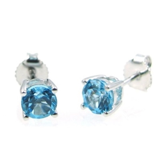 Picture of Lali 14K White Gold Swiss Blue Topaz Earring