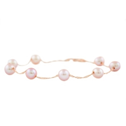 Picture of Lali 14K Rose Gold Pink Fresh Water Pearl Bracelet