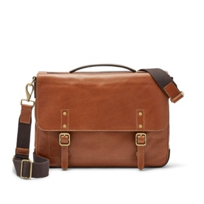 Picture of Fossil Men's Defender Portfolio - Brown