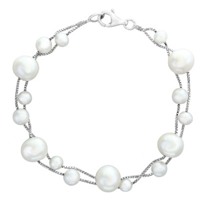 Picture of Lali Sterling Silver White Fresh Water Pearl Bracelet