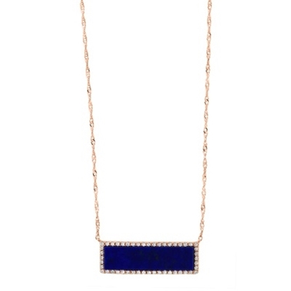 Picture of Lali 14K Rose Gold Diamond and Lapis Lazuli 18'' Necklace