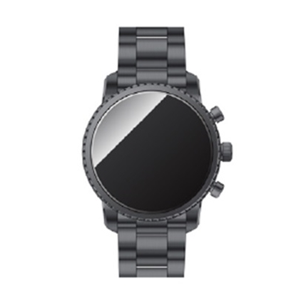 Picture of Fossil Q Explorist HR Gunmetal-Tone Stainless Steel Smartwatch