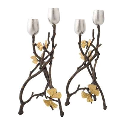 Picture of Michael Aram Butterfly Ginkgo Candle Holders