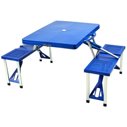 Picture of Picnic at Ascot™ Portable Picnic Table Set - Blue
