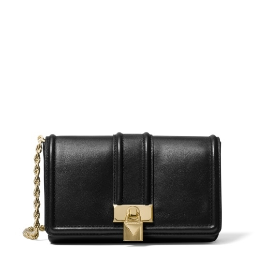 Picture of Michael Kors Padlock Chain Crossbody - Black