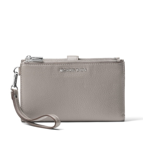 Picture of Michael Kors Double Zip Wristlet - Pearl Grey