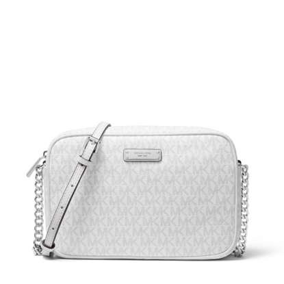 Picture of Michael Kors Signature Large E/W Crossbody - Bright White