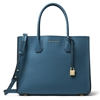 Picture of Michael Kors Mercer Acccordion Convertible Tote- Dark Chambray