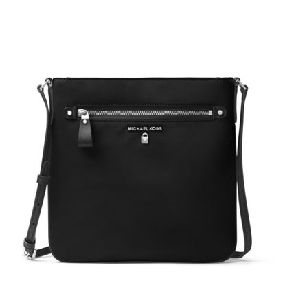 Picture of Michael Kors Nylon Kelsey Large Crossbody - Black